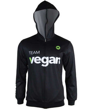 Team Vegan Women's Hooded Track Jacket by Hill Killer