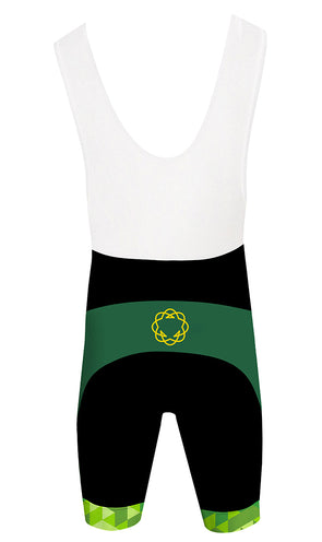High Garden Green Men's Performance Cycling Bibs by Hill Killer