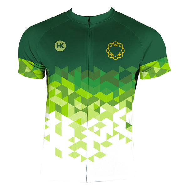 High Garden Green Men's Club-Cut Cycling Jersey by Hill Killer