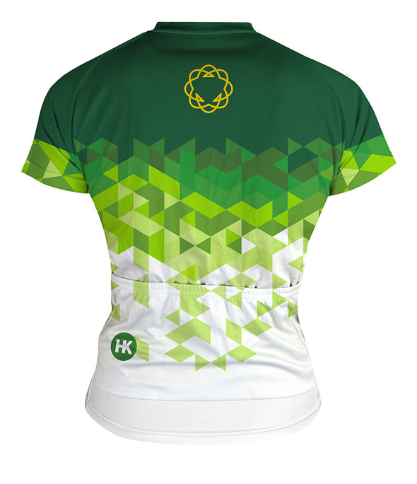 High Garden Green Women's Club-Cut Cycling Jersey by Hill Killer