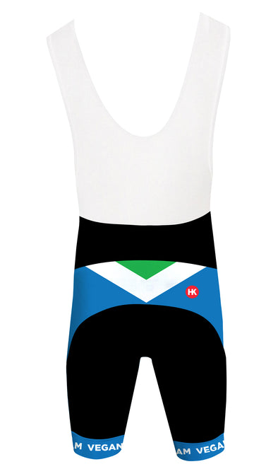 Vegan Flag Men's Club-Cut Cycling Bibshorts by Hill Killer