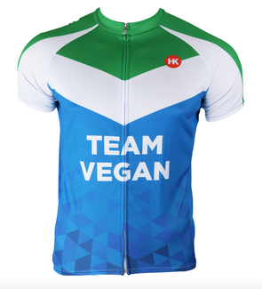 Vegan Flag Men's Club-Cut Cycling Jersey by Hill Killer