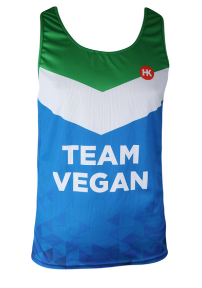 Vegan Flag Men's Running Singlet by Hill Killer