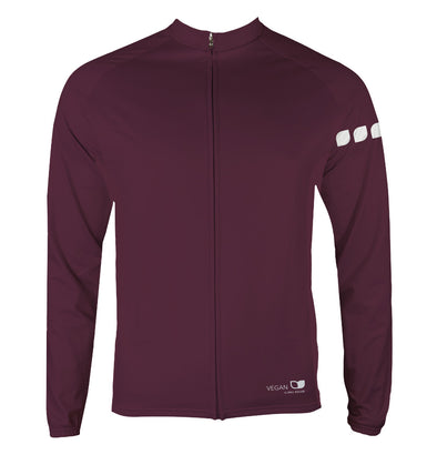 Vegan Seeds Men's Thermal-Lined Cycling Jersey by Hill Killer