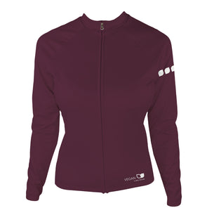 Vegan Seeds Women's Thermal-Lined Cycling Jersey by Hill Killer
