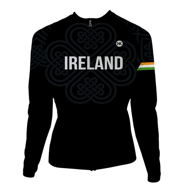 Ireland Women's Thermal-Lined Cycling Jersey by Hill Killer