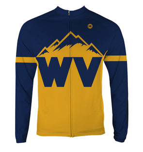 West Virginia Men's Thermal-Lined Cycling Jersey by Hill Killer