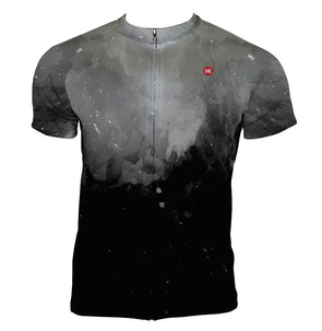 Black Smoke Men's Club-Cut Cycling Jersey by Hill Killer