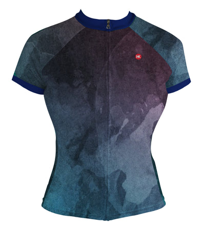 Galactic Blue Women's Club-Cut Cycling Jersey by Hill Killer