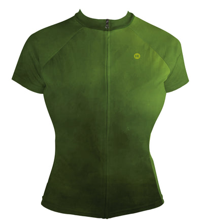 Moss Green Women's Club-Cut Cycling Jersey by Hill Killer