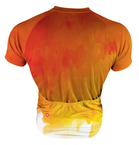 Fire Orange Men's Club-Cut Cycling Jersey by Hill Killer