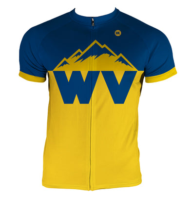 West Virginia Men's Club-Cut Cycling Jersey by Hill Killer