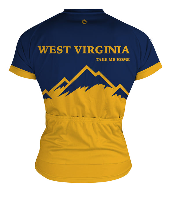 West Virginia Women's Club-Cut Cycling Jersey by Hill Killer