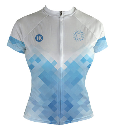 Walker White Women's Club-Cut Cycling Jersey by Hill Killer