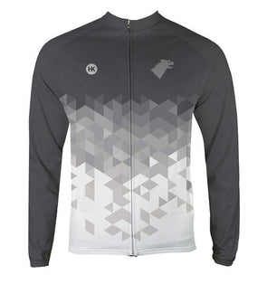 Direwolf Grey Women's Thermal-Lined Cycling Jersey by Hill Killer