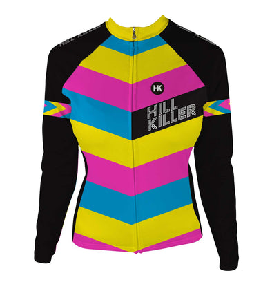The Unicorn Women's Thermal-Lined Cycling Jersey by Hill Killer