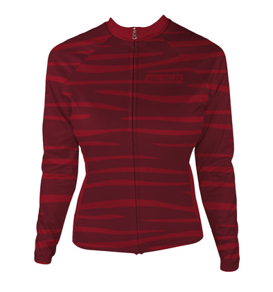 Hellcat Blood Moon Women's Thermal-Lined Cycling Jersey by Hill Killer