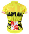 Maryland Calvert Yellow Women's Club-Cut Cycling Jersey by Hill Killer