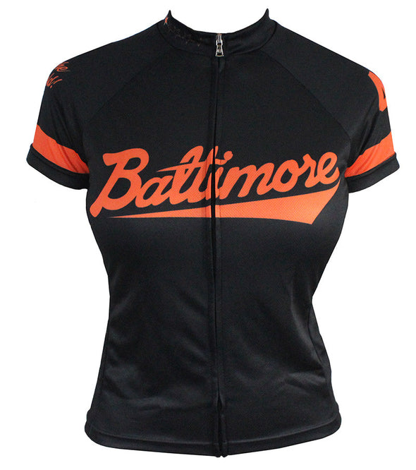 Baltimore 'Camden' Women's Club-Cut Cycling Jersey by Hill Killer