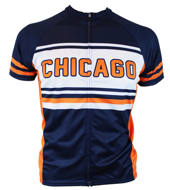 Chicago Retro Men's Club-Cut Cycling Jersey by Hill Killer
