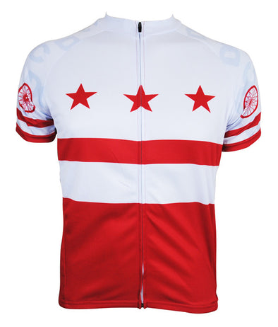 DC Flag Men's Club-Cut Cycling Jersey by Hill Killer