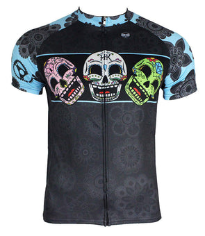 Dia Très (Blue) Men's Club-Cut Cycling Jersey by Hill Killer