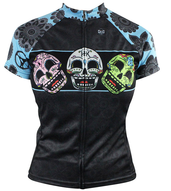 Dia Très (Blue) Women's Club-Cut Cycling Jersey by Hill Killer