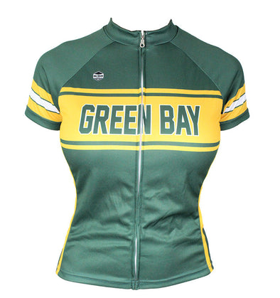 Green Bay Women's Club-Cut Cycling Jersey by Hill Killer