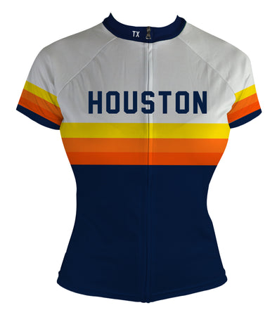 Houston Vintage Bragging Rights (Preorder) Women's Club-Cut Cycling Jersey by Hill Killer
