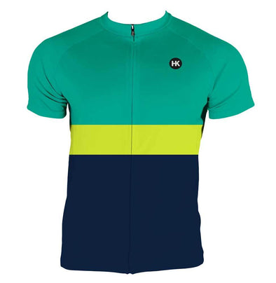 Lime Punch Men's Club-Cut Cycling Jersey by Hill Killer