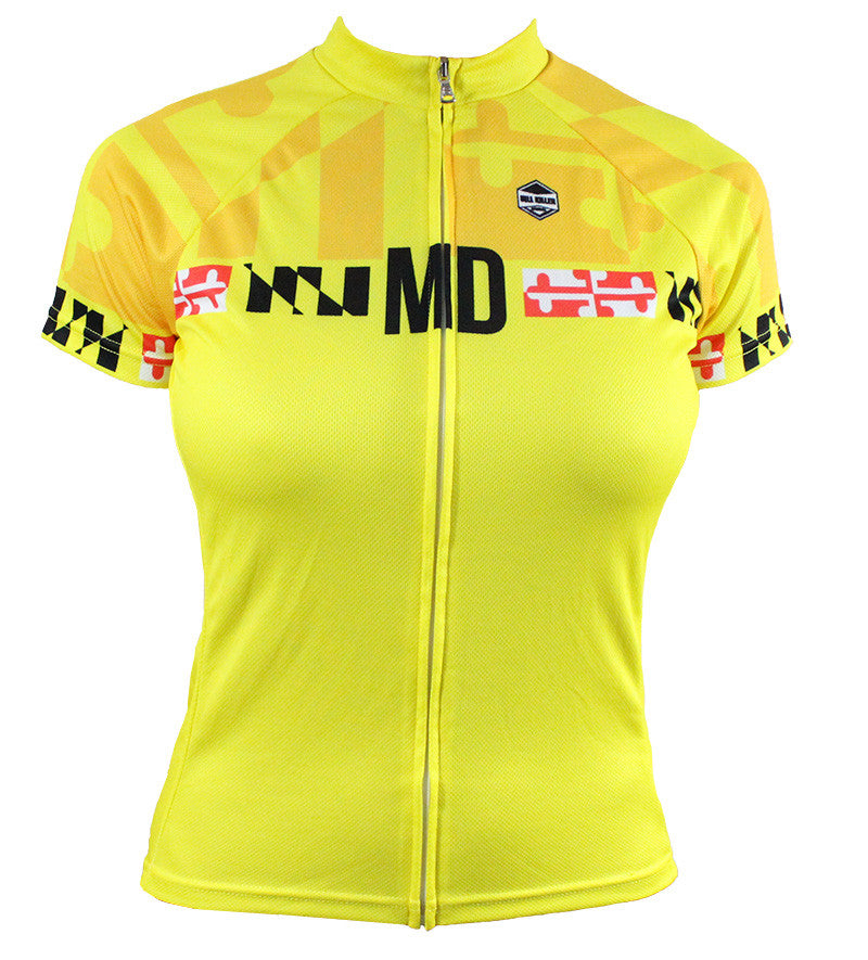 Maryland 'Calvert Yellow' Women's Cycling Jersey
