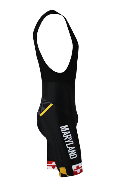 Maryland 'Blackout' Men's Performance Cycling Bibs by Hill Killer