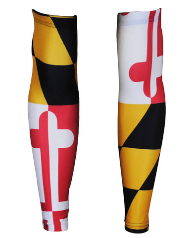 Maryland Flag Unisex Arm Warmers by Hill Killer