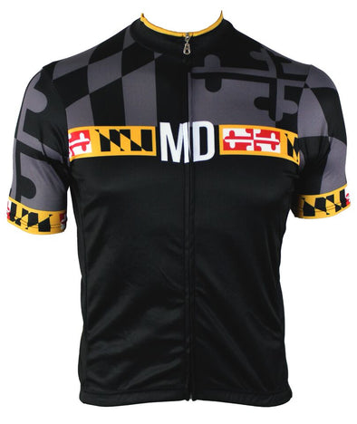 Maryland 'Blackout' Men's Club-Cut Cycling Jersey by Hill Killer
