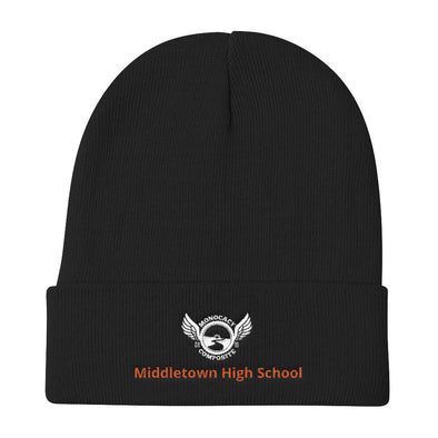Monocacy Composite/ Middletown High School Knit Beanie Custom Monocacy Composite by Hill Killer