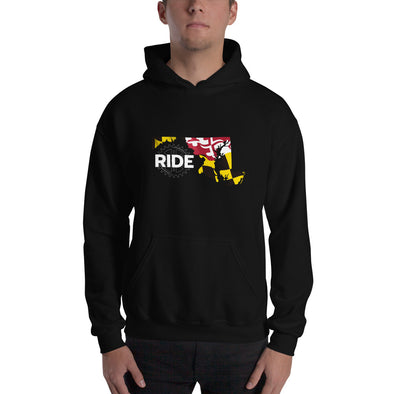 Ride Maryland Unisex Hoodie Unisex Hooded Sweatshirt by Hill Killer