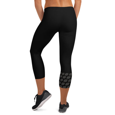 Vegan Seeds Capri Leggings Women's Yoga Pant by Hill Killer