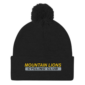 Mountain Lions Pom Pom Knit Cap