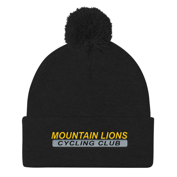 Mountain Lions Pom Pom Knit Cap Custom Mountain Lions by Hill Killer