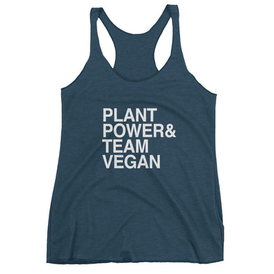 Team Vegan Plant Power Women's Racerback Tank Top by Hill Killer