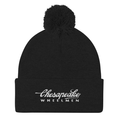 Chesapeake Wheelmen Pom-Pom Beanie Custom Knit Beanie by Hill Killer