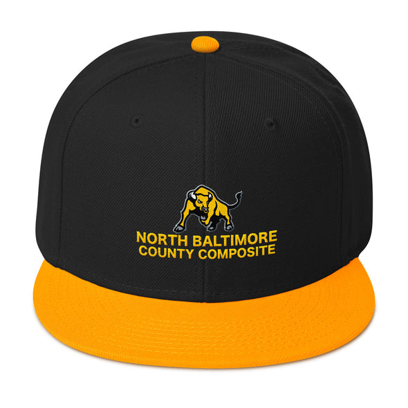 North Baltimore County Composite Snapback Hat Custom Snapback Cap by Hill Killer