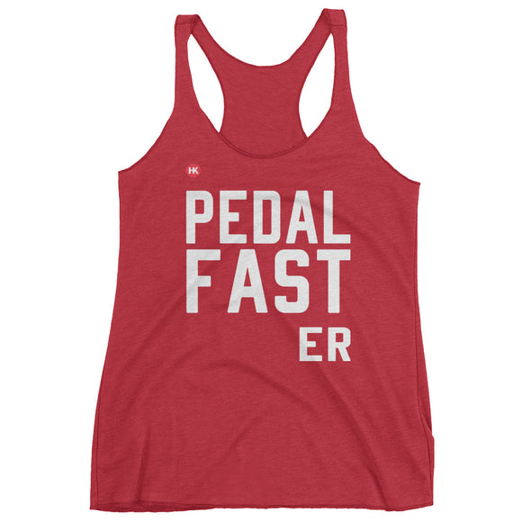 Pedal Fast-er Women's Racerback Tank Top by Hill Killer