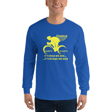 Franklin County Cyclists Long Sleeve T-Shirt  Hill Killer by Hill Killer