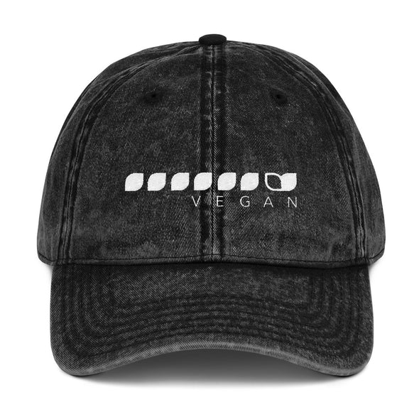 Vegan Seeds Vintage Cotton Twill Cap Unisex Dad Hat by Hill Killer