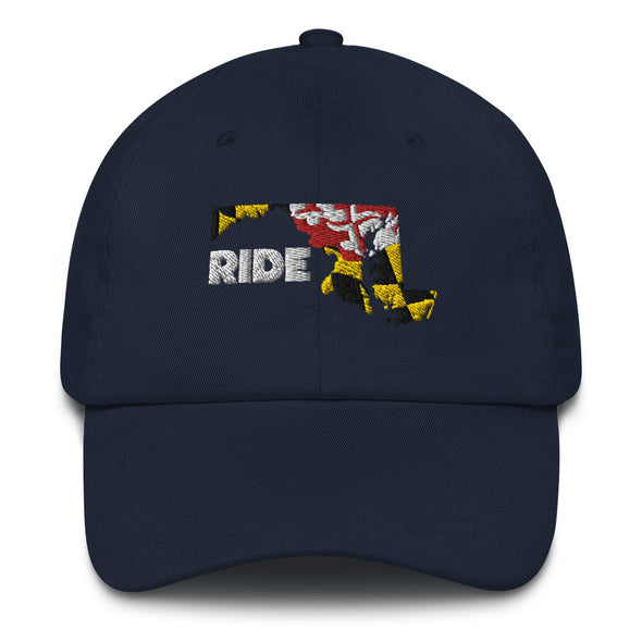 Ride Maryland Dad hat Unisex Dad Hat by Hill Killer