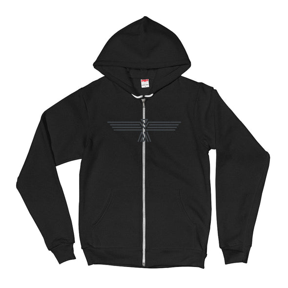 Night Black Unisex Hooded Sweatshirt by Hill Killer