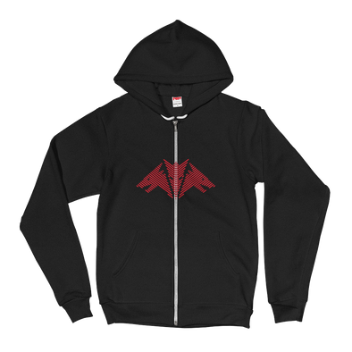 Dragon Red Unisex Hooded Sweatshirt by Hill Killer