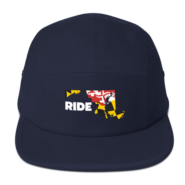 Ride Maryland 5 Panel Camper Unisex Camper-Style Hat by Hill Killer