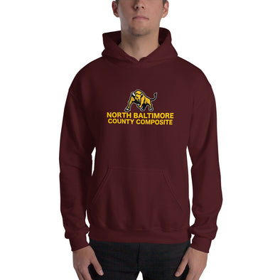 North Baltimore County Composite Hooded Sweatshirt Custom Hooded Sweatshirt by Hill Killer